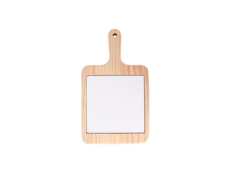 Square Cheese Board w/ Ceramic Tile(18*31cm) - Free