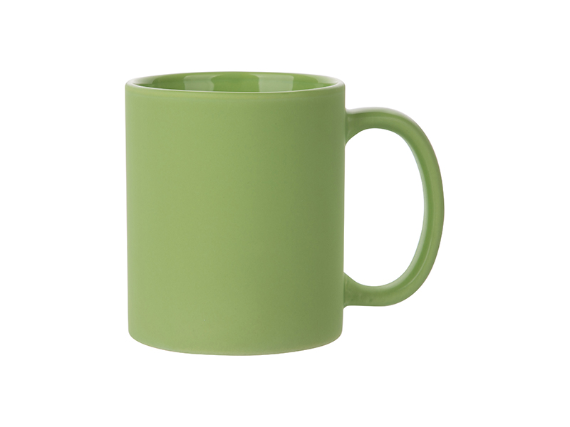 11oz Full Color Mug Frosted Light Green Free