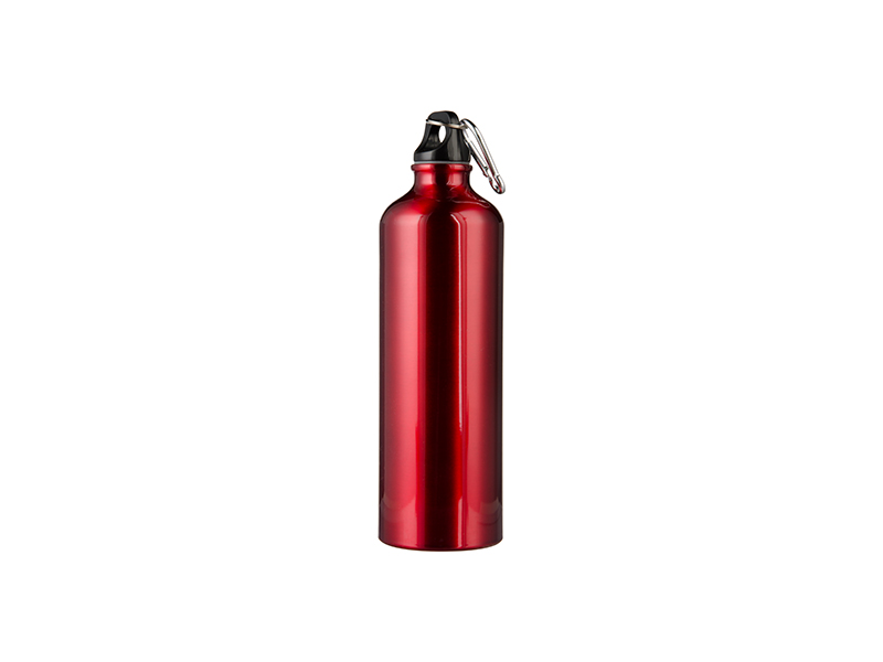 750ml Aluminum Water Bottle Red Free Sublimation